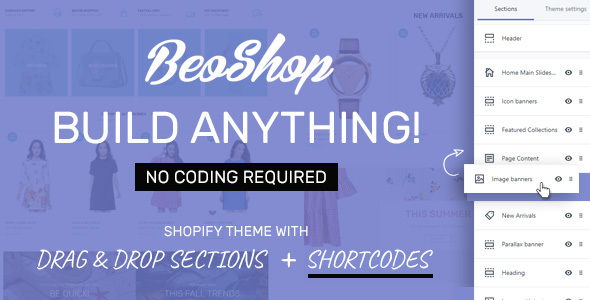BeoShop - Drag & Drop Responsive Shopify Theme - Fashion Shopify