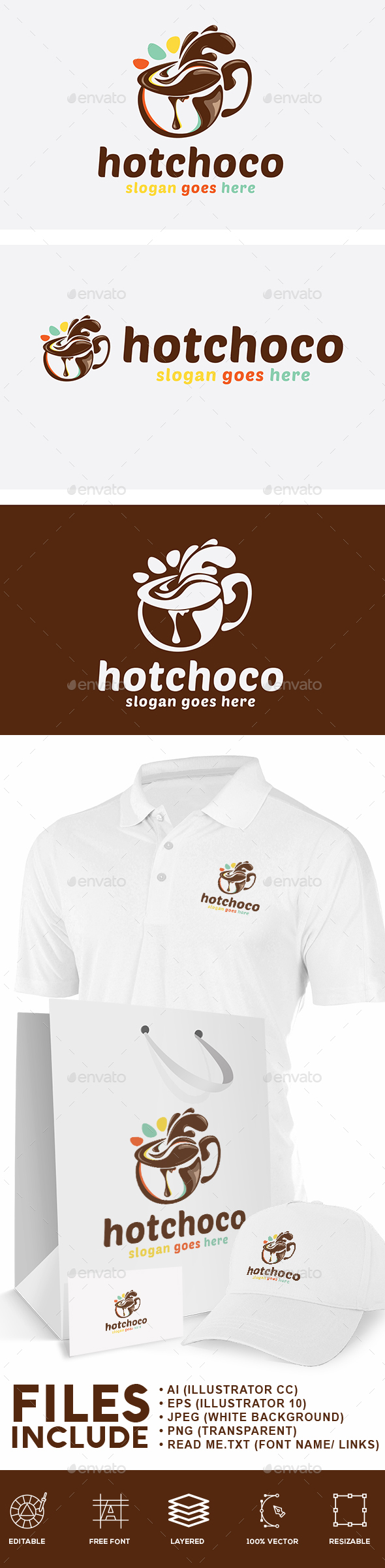 Hot Chocolate Logo - Food Logo Templates