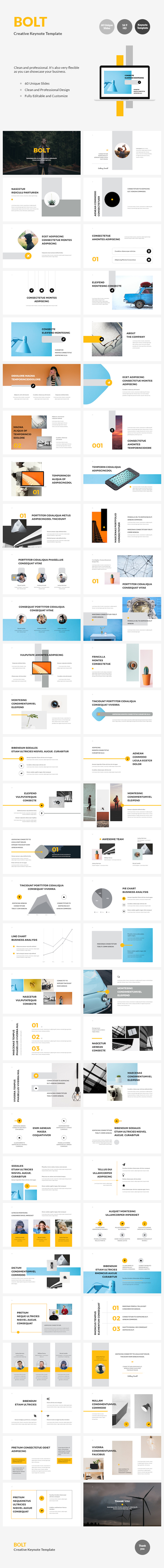 BOLT - Creative Keynote Template - Business Keynote Templates