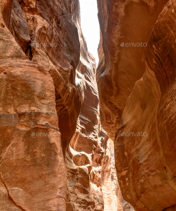 the narrow canyon - Stock Photo - Images