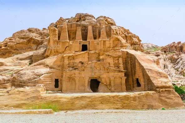 Yellow Obelisk Tomb - Stock Photo - Images