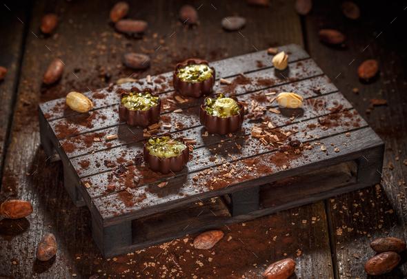 Luxury chocolate bonbons - Stock Photo - Images