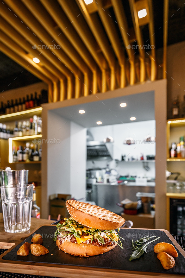 Pulled beef burger - Stock Photo - Images