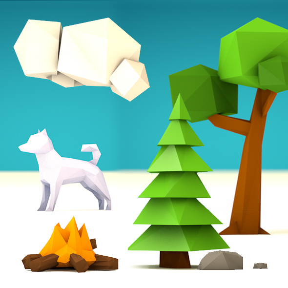Low Poly Set - 3DOcean Item for Sale