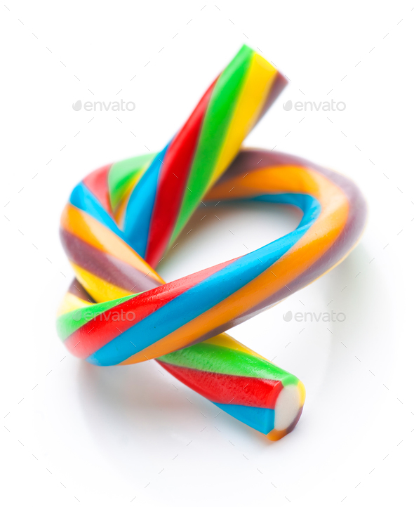 ties rods colored soft licorice - Stock Photo - Images