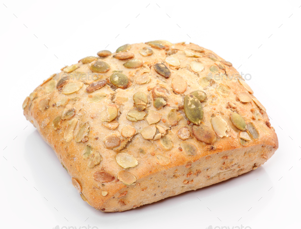 pumpkin seed bread - Stock Photo - Images