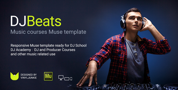 DJBeats - DJ Courses / Scratch DJ School / Music Academy Responsive Muse Template - Miscellaneous Muse Templates