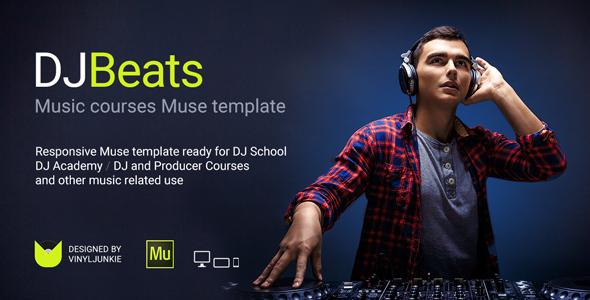 DJBeats – DJ Courses / Scratch DJ School / Music Academy Responsive Muse Template