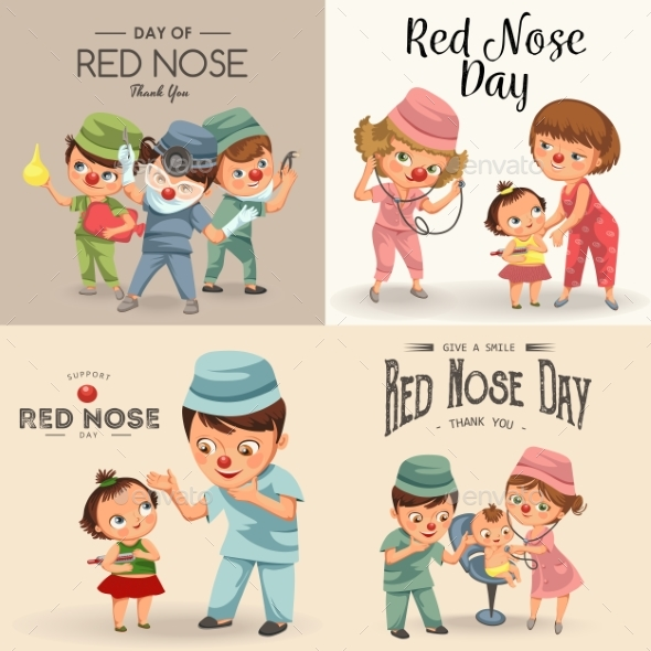 Red Nose Day Doctor Greeting Card - Health/Medicine Conceptual
