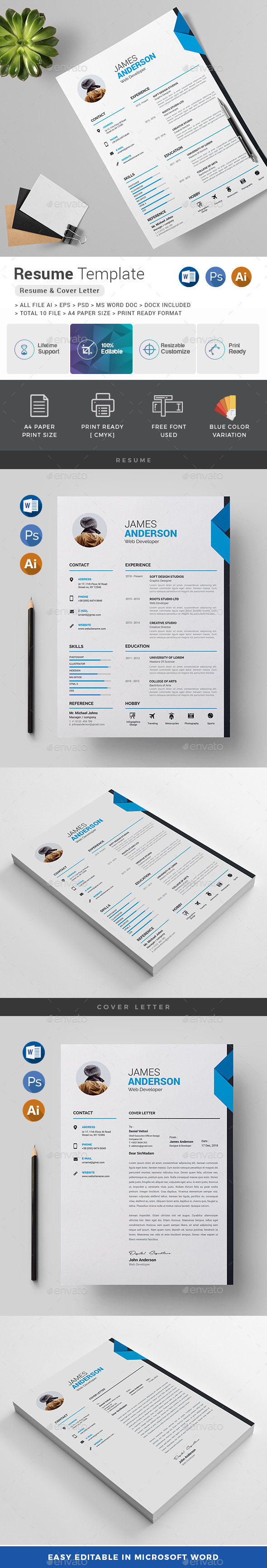resume cover letter stationery print templates - Resume Cover