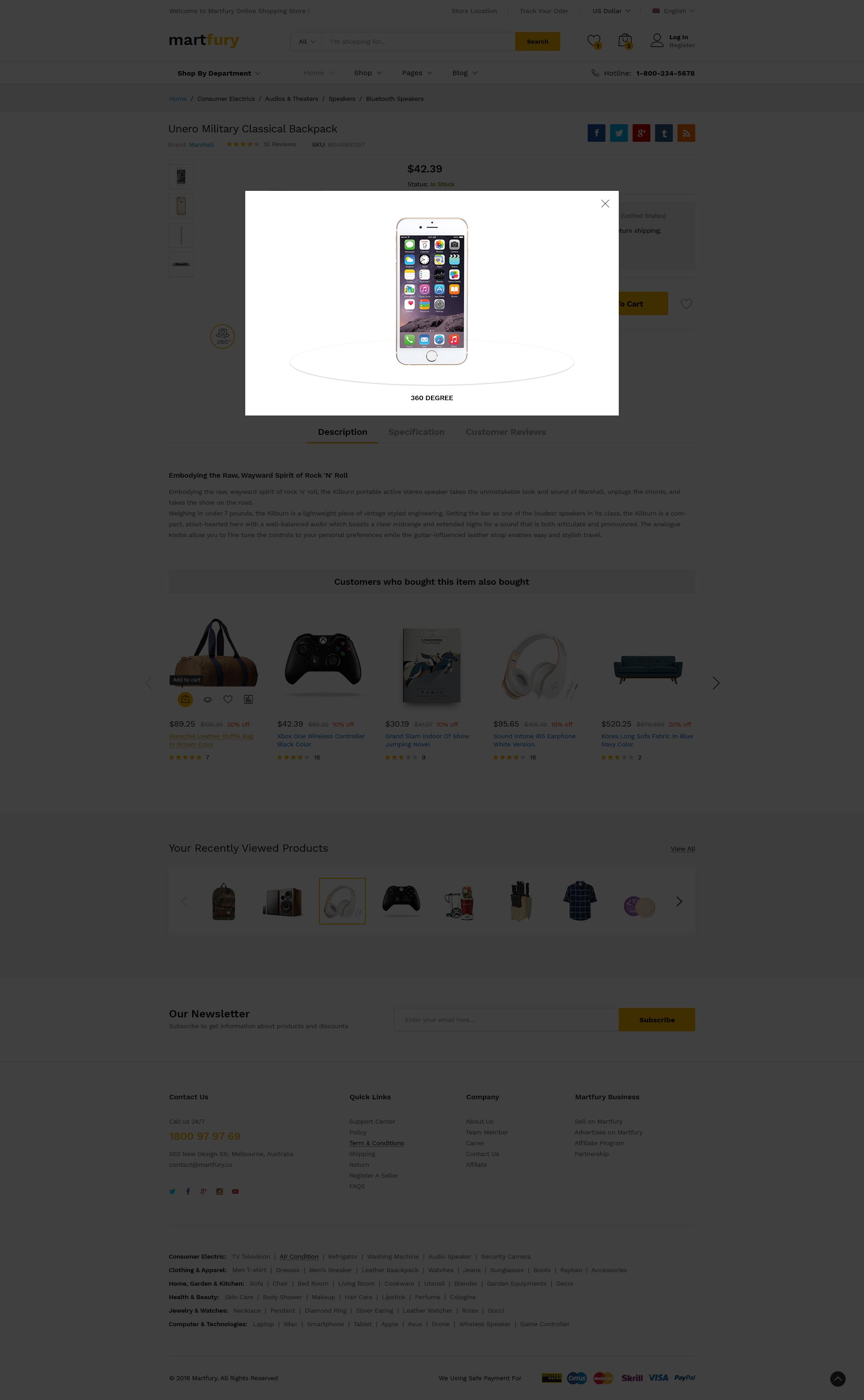 MartFury | Multi-Vendor & Marketplace eCommerce PSD Template by LoganCee