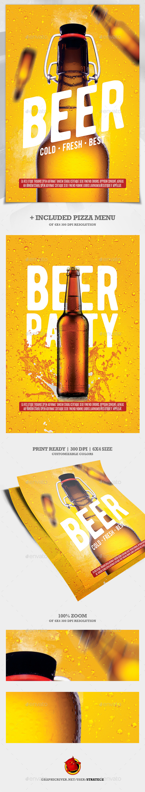 Beer Flyer / Beer Party Flyer - Flyers Print Templates