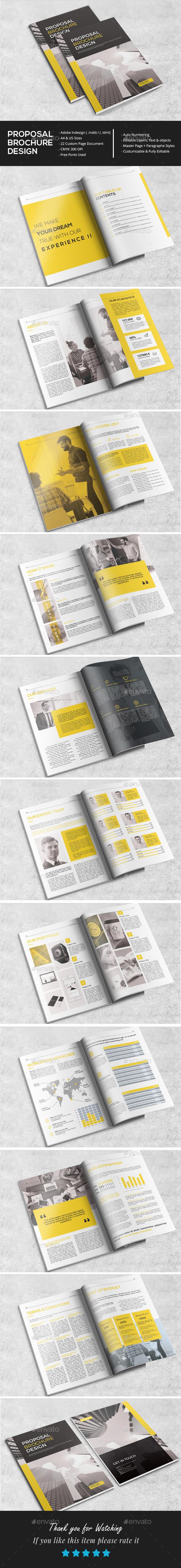 Stylish Proposal Brochure Design - Brochures Print Templates