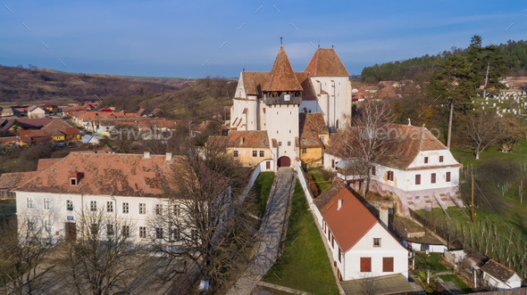 Bazna fortified church - Stock Photo - Images