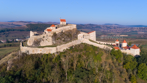 Rupea fortress, Brasov county, Romania. - Stock Photo - Images