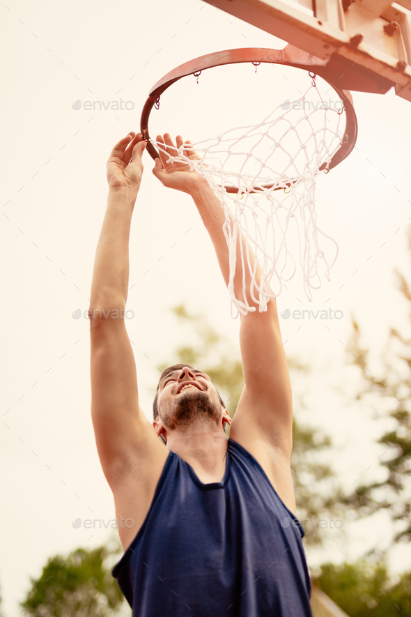 Basketball Net On The Hoop - Stock Photo - Images