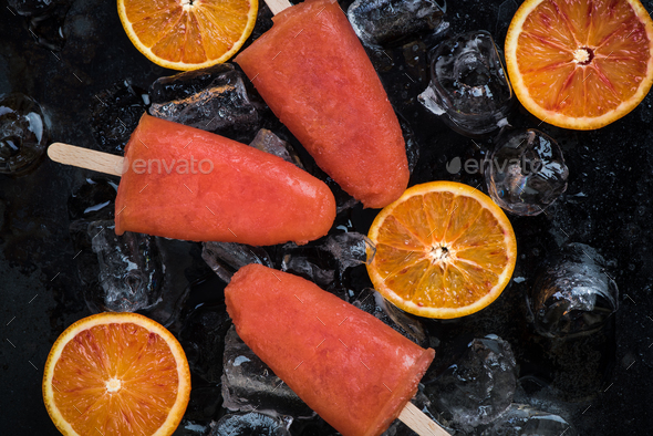 Healthy snack for hot summer days - Stock Photo - Images