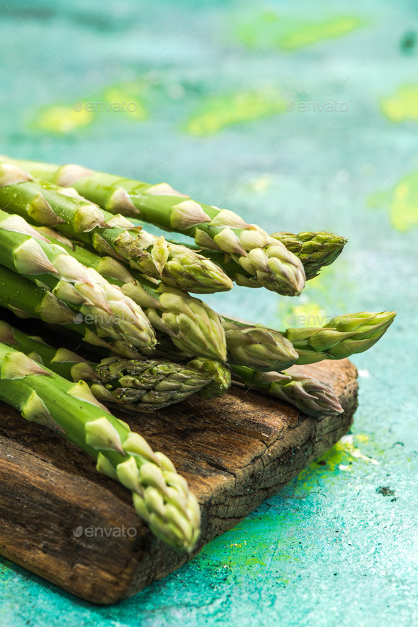 Fresh asparagus from farm to table - Stock Photo - Images
