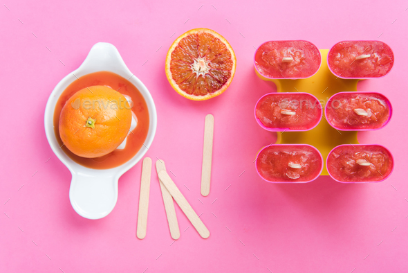 Making homemade healthy popsicles - Stock Photo - Images