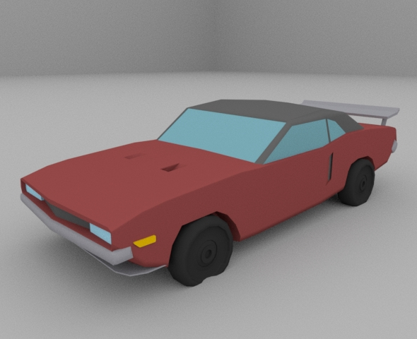 Low-poly Muscle car - 3DOcean Item for Sale