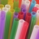 Top View of Colorful Straw on Red Background. - VideoHive Item for Sale