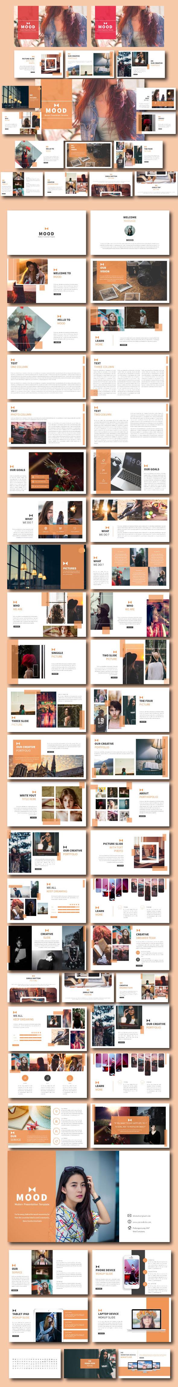 Mood Creative Presentation - Creative PowerPoint Templates