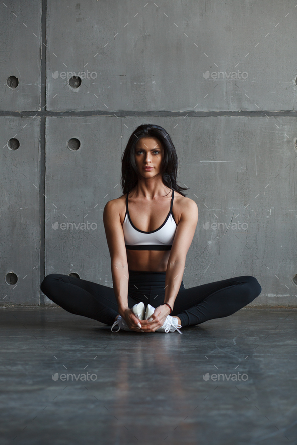 fitness female doing stretching exercise - Stock Photo - Images