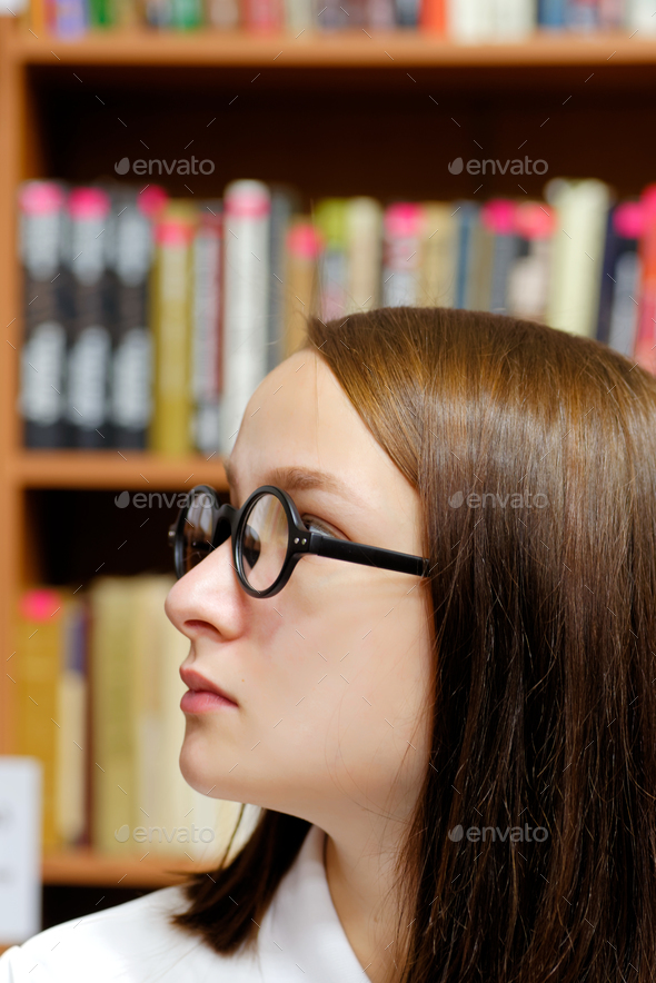 Girl and books - Stock Photo - Images