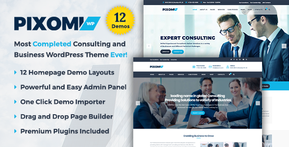 Pixomi - A Modern Consulting and Business WordPress Theme