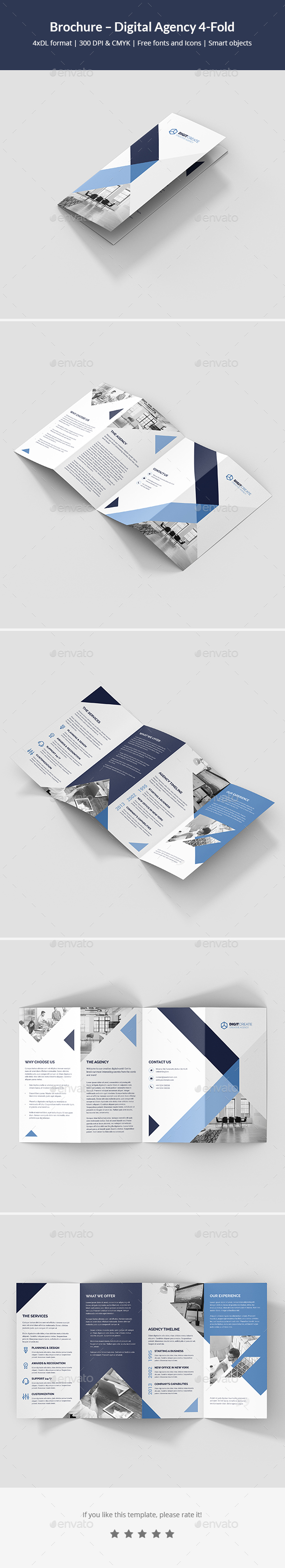 Brochure – Digital Agency 4-Fold - Corporate Brochures
