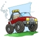 Cartoon Red Off Road Monster Truck