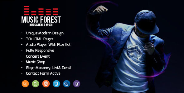 Image of MusicForest Music Blog Artist and Online Store