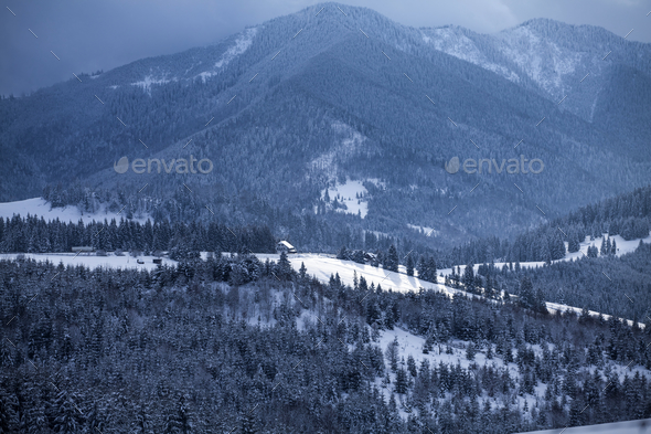 Snow in the mountains - Stock Photo - Images