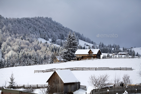 Winter in the mountains - Stock Photo - Images