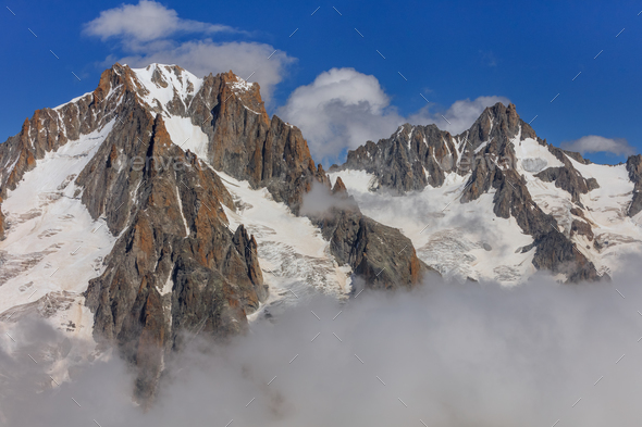 Mont Blanc mountain - Stock Photo - Images