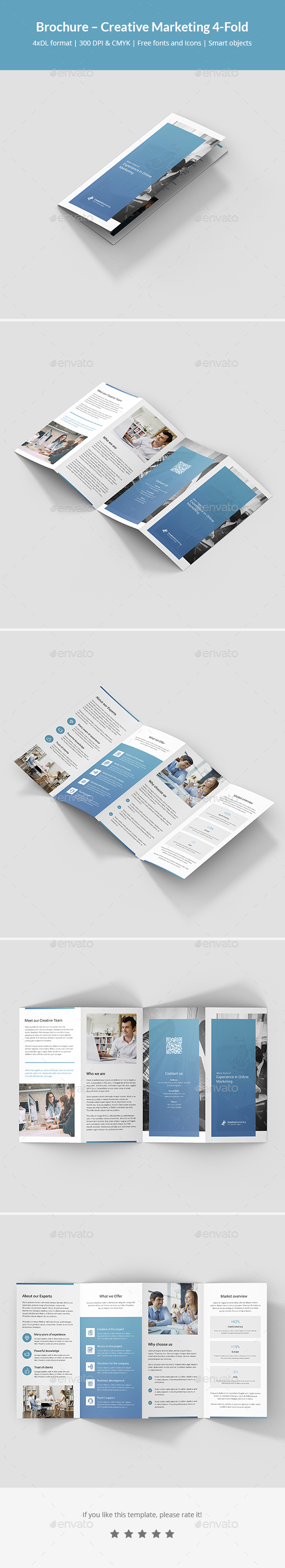 Brochure – Creative Marketing 4-Fold - Corporate Brochures