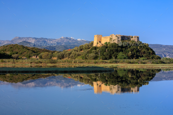 Castle of Grivas (Kastro Griva) in Lefkada, Greece - Stock Photo - Images