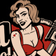 Pin up Girl on Spark Plug.