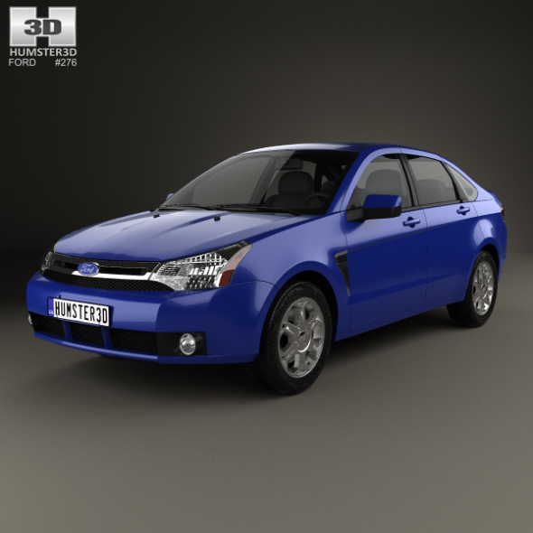 2007-2008, 4-door, american, focus, ford, Ford Focus, Mk2, saloon, sedan, ses, spec, us, US-spec