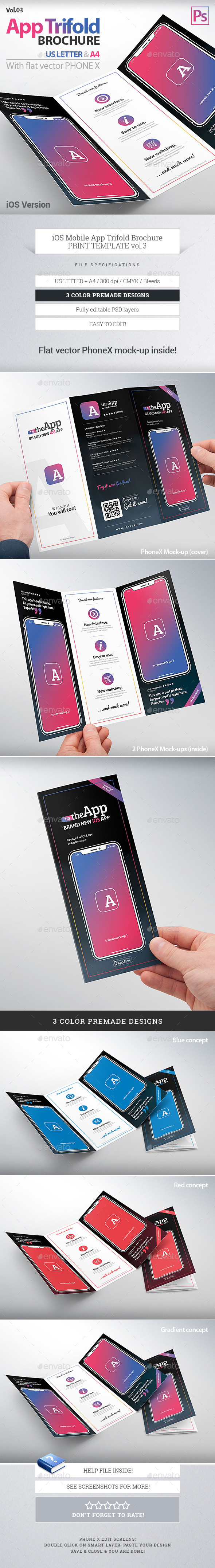 mobile app trifold brochure vol3 ios version us letter a4