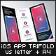 Mobile App Trifold Brochure vol.3 (iOS Version) - US Letter & A4 - GraphicRiver Item for Sale