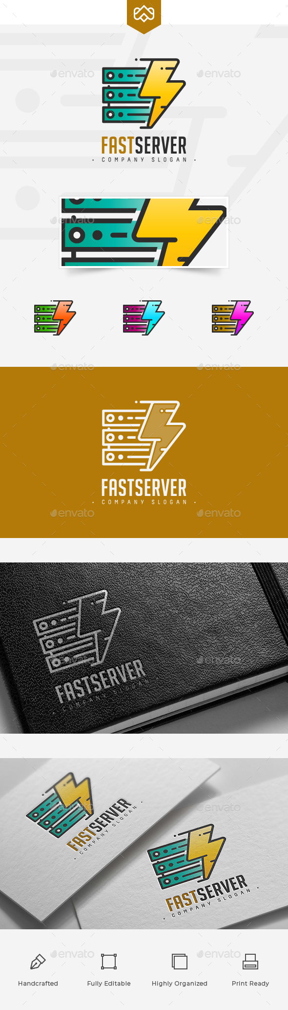 Fast Server Logo - Company Logo Templates