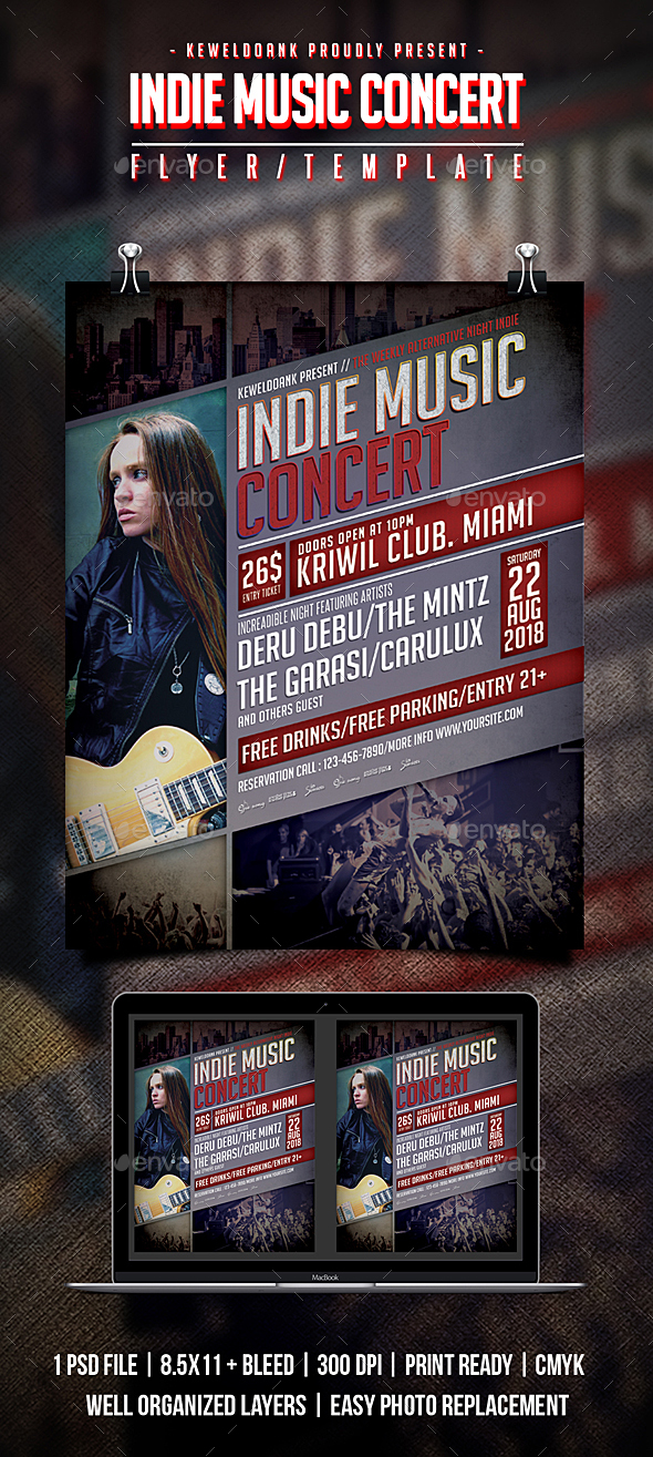 Indie Music Concert Flyer / Poster - Concerts Events