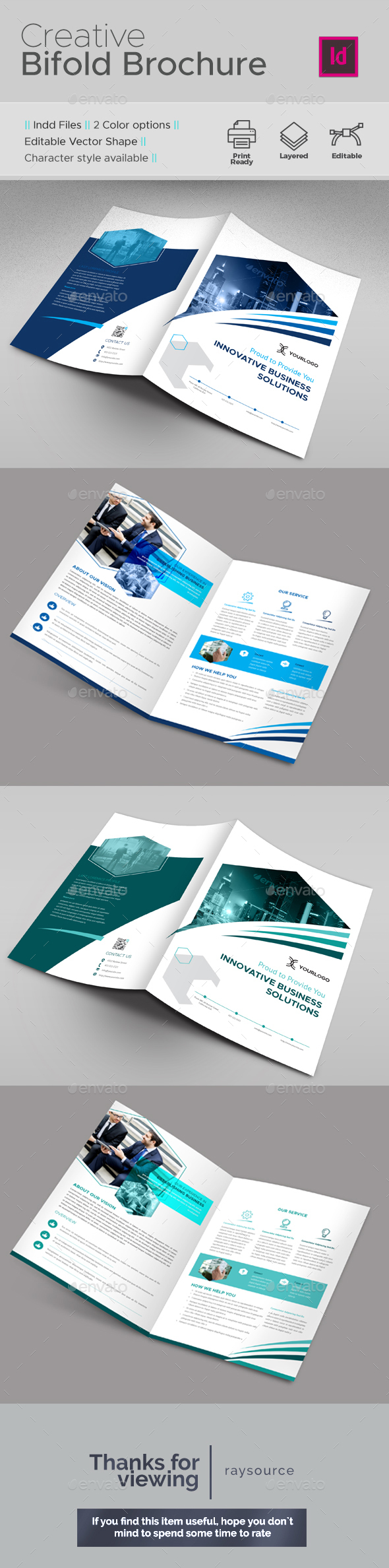 Creative Bifold Brochure - Brochures Print Templates