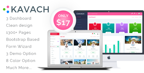 Kavach - Responsive Admin Dashboard Template - Admin Templates Site Templates