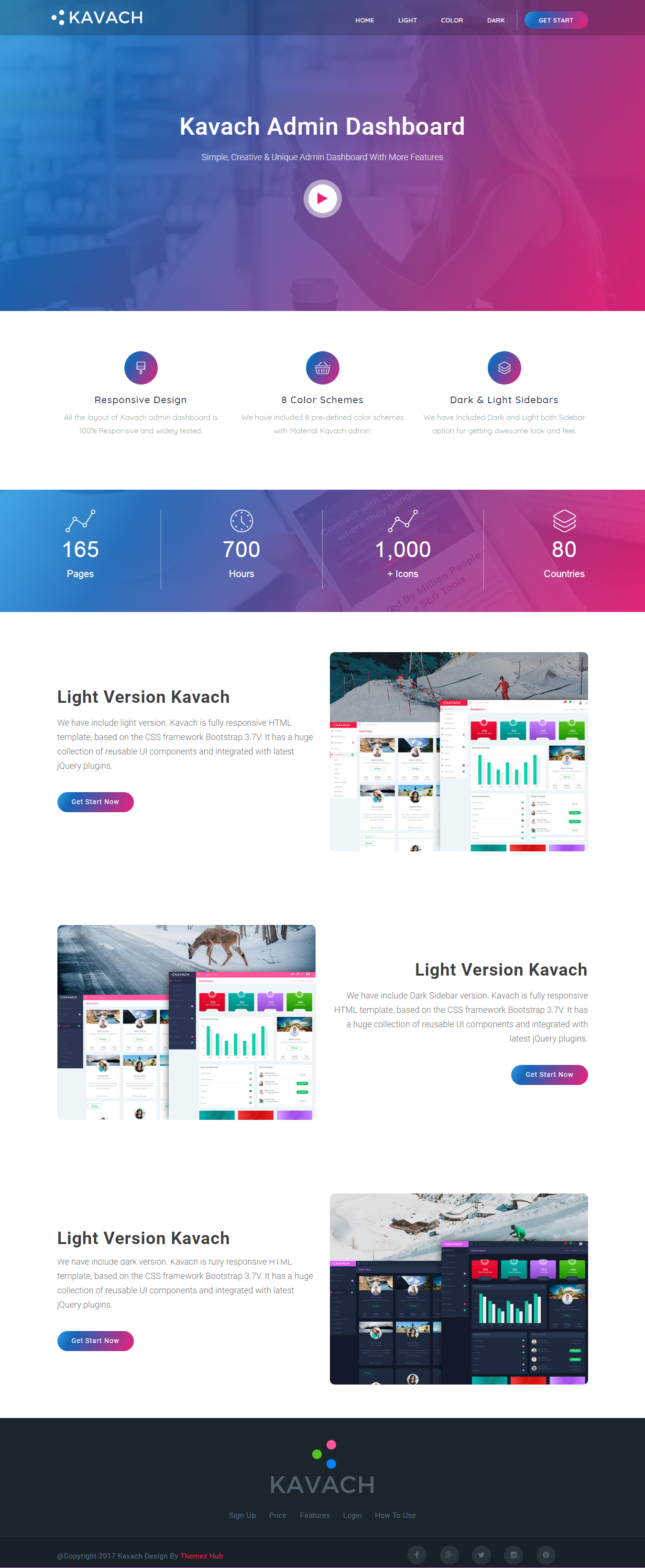 Kavach - Responsive Admin Dashboard Template by themezhub ...
