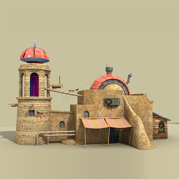 Game House 3d model - 3DOcean Item for Sale