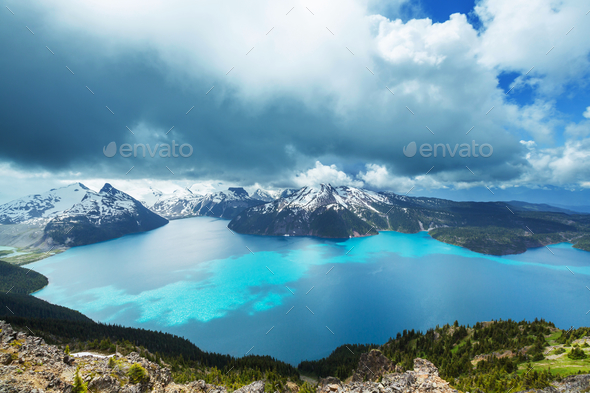 Garibaldi lake - Stock Photo - Images