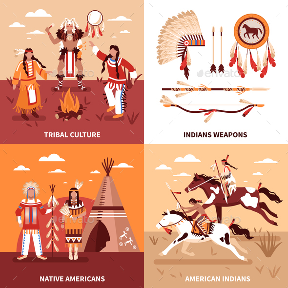 American Indians 2x2 Design Concept - Business Conceptual