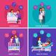 Pregnancy Newborn Cartoon Design Concept